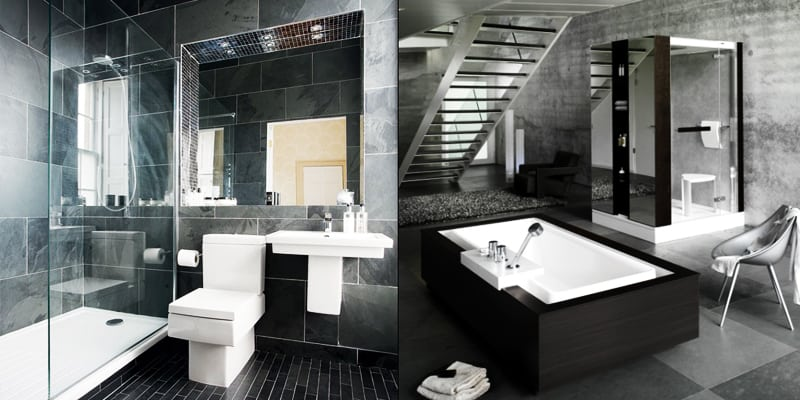 Ten of the Best Modern Black Bathrooms designrulz (1)