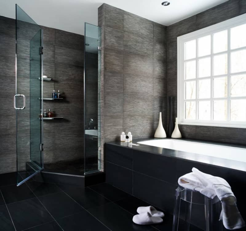 Ten of the Best Modern Black Bathrooms designrulz (3)