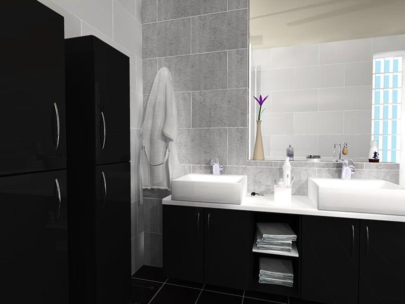 ... Ten Of The Best Modern Black Bathrooms Designrulz (9)