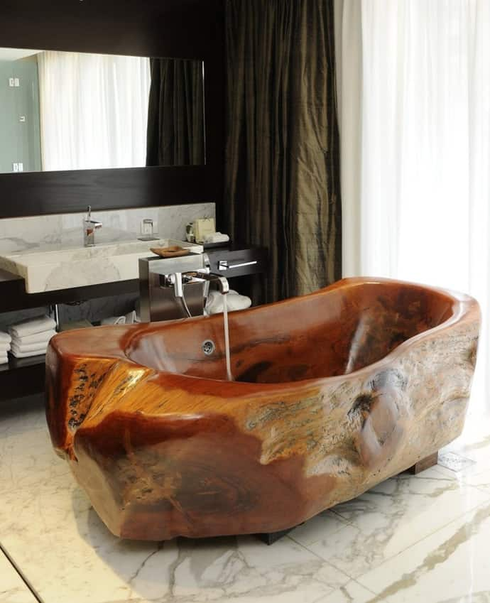 15 Wooden Bathtubs That Send You Back To Nature