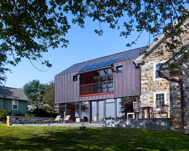 Modern Addition For 18th Century Farmhouse By Wyant