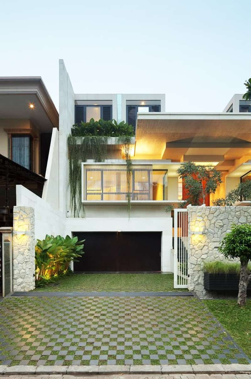 Modern family house static house jakarta indonesia for Haus design ideas