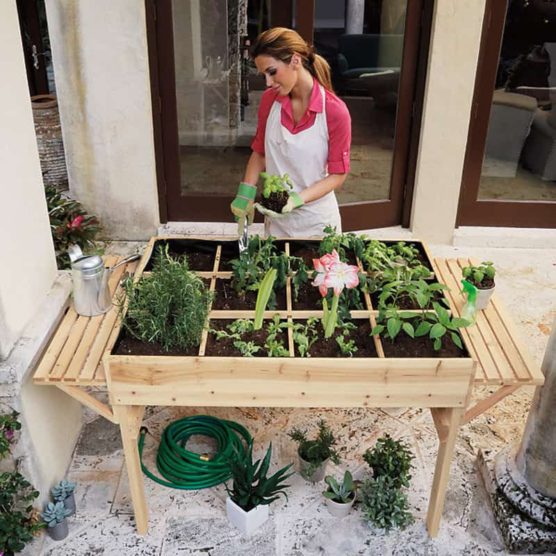 Garden Tables Help You To Grow Veggies, Herbs And Flowers