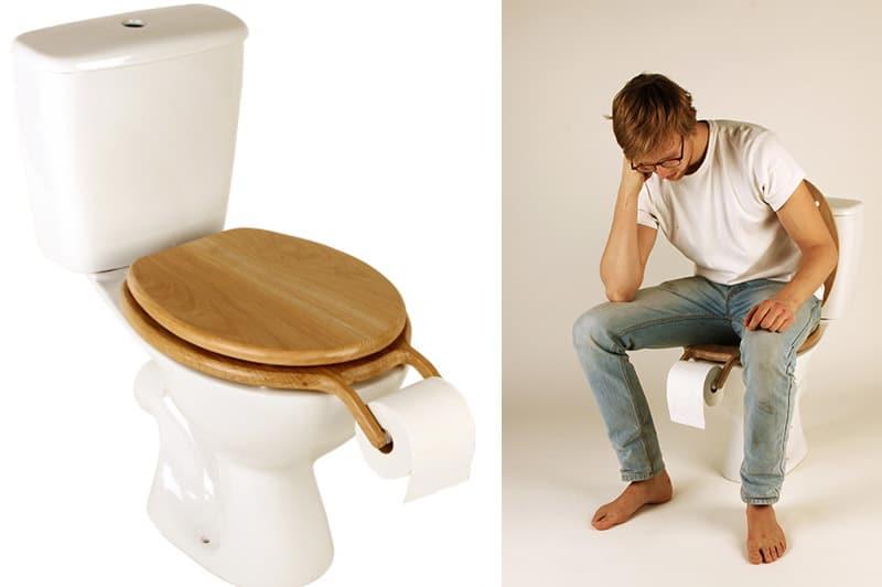 Bog Standard Oak Toilet Seat With Roll Holder By Henry Franks