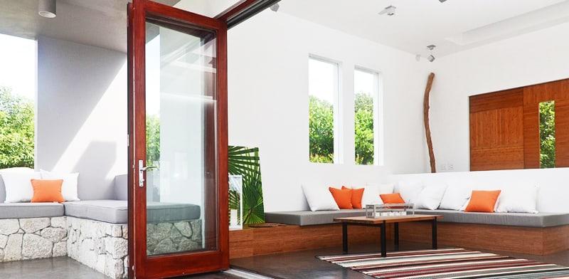 Modern Folding Door System by LaCantina Doors