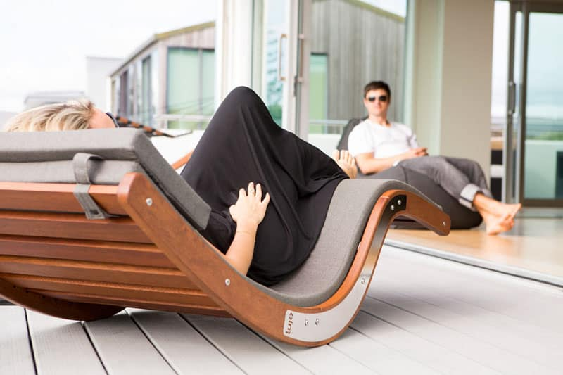 rock out outside with the kwila sun lounger by lujo. Black Bedroom Furniture Sets. Home Design Ideas