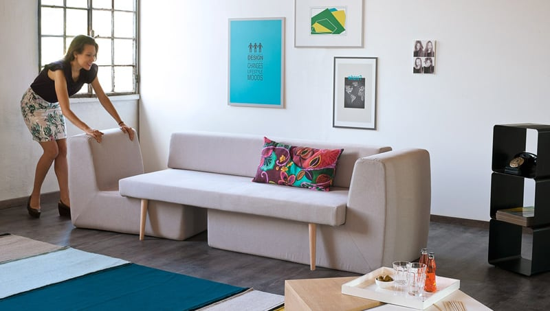 3 In 1 Modular Sofa Sofista Perfect For Convertible Living Rooms