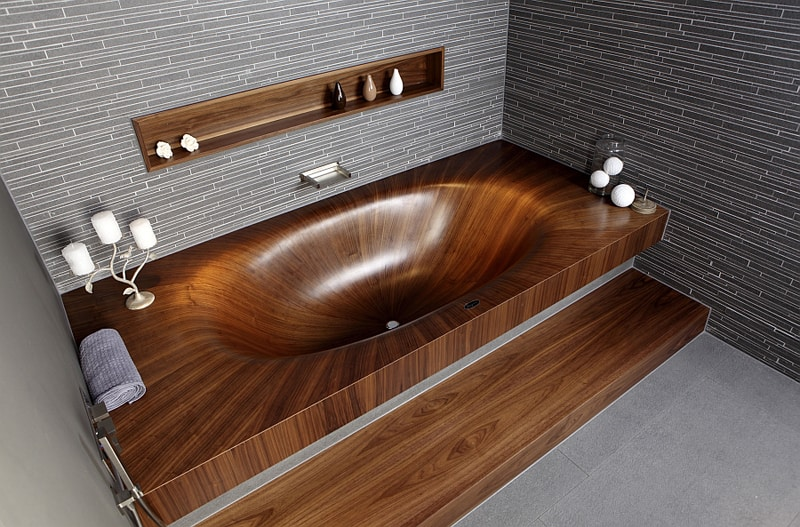 Cool-modern-wooden-bathtub
