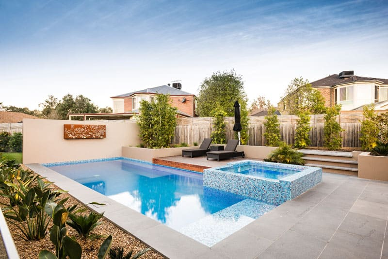 Pool House With Inspiring Outdoor Design - Amazing outdoor design by apex landscapes