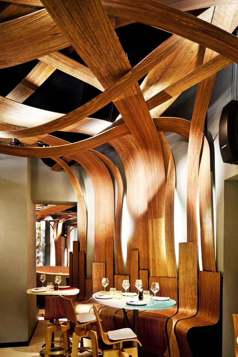 Restaurant Interior Designs With Wooden Walls