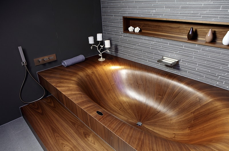 Great Ideas For An Appealing Wooden Bathroom Design