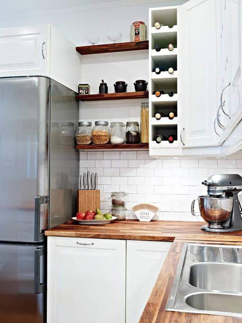 35 bright ideas incorporating open shelves kitchen 2048