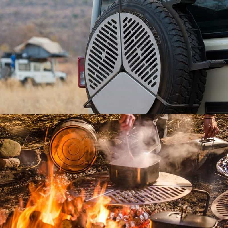 Ingenious Spare Tire Bbq Grate