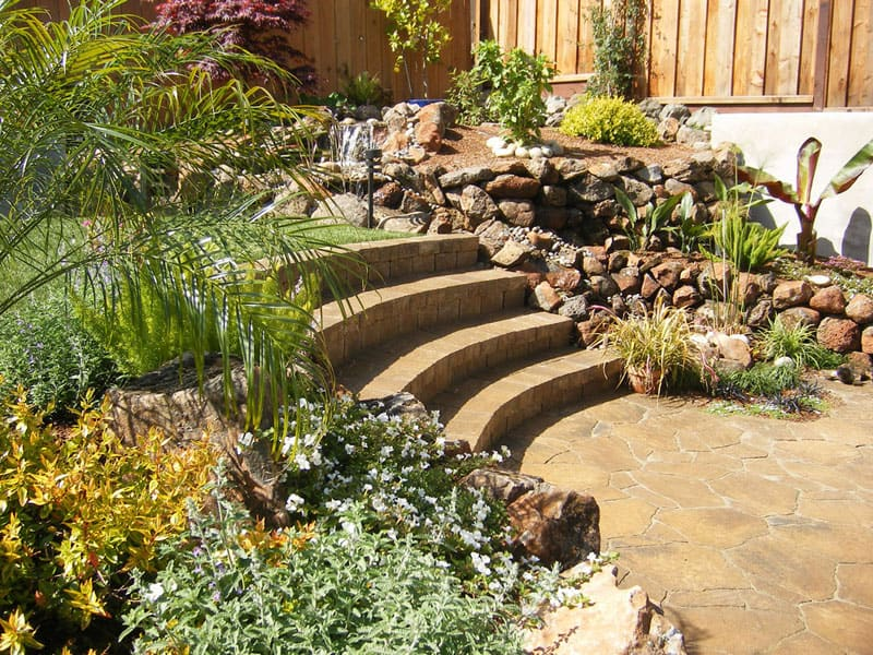 How to turn a steep backyard into a terraced garden for Landscape design hawaii