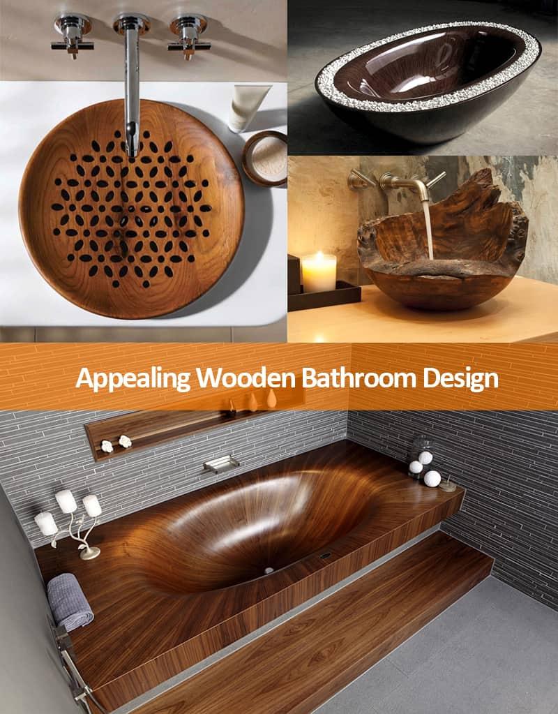 Wooden Bathroom Sink Countertops Ideas