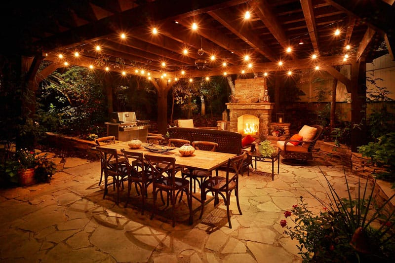 1 deck (1) & LED Lights For Amazing Evenings In The Garden