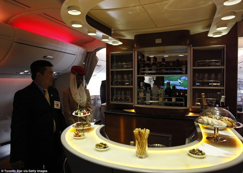 The Emirates A380 Airbus The Most Luxurious On Board Airline Bars In The Sky Revealed