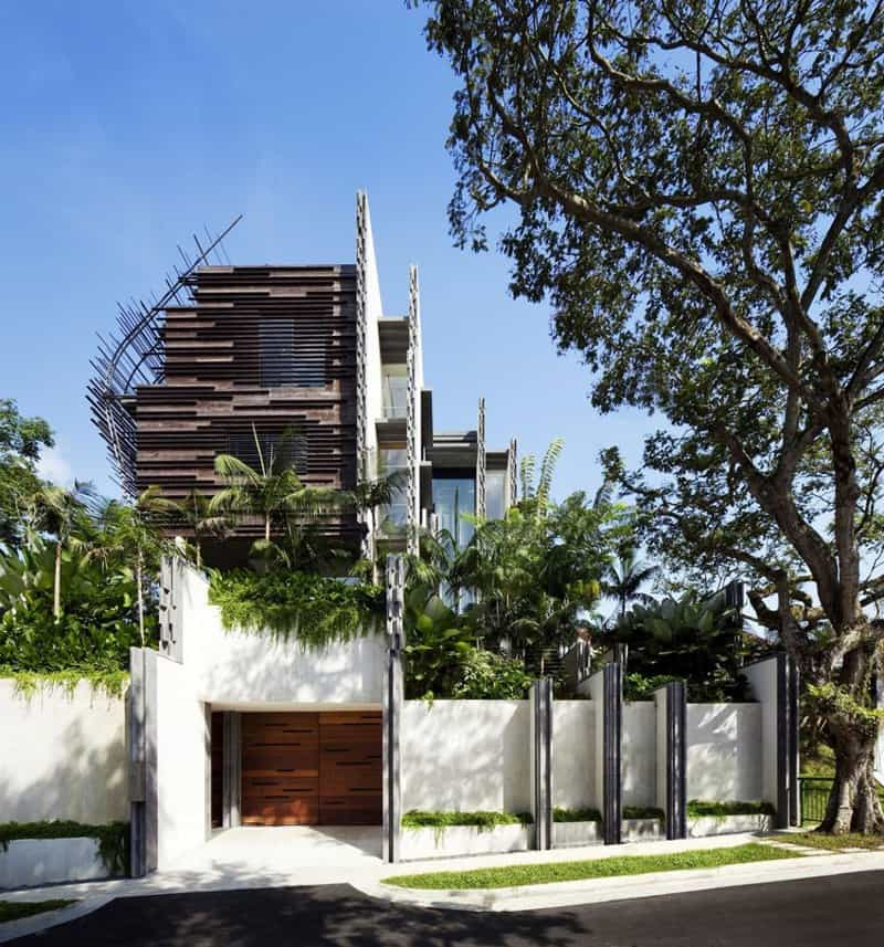 Modern tropical residence the nest house by woha architects for Nest home design
