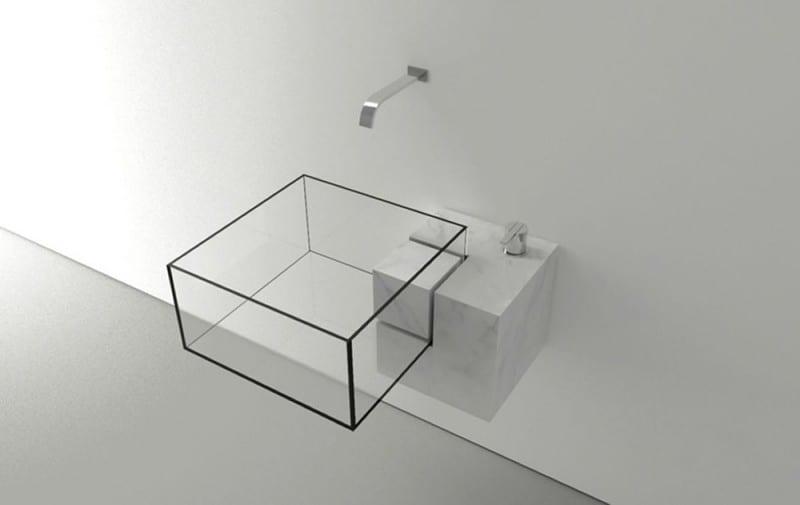 Almost Invisible Minimalist Kub Bathroom Sink By Victor Vasilev - Almost invisible minimalist kub bathroom sink by victor vasilev