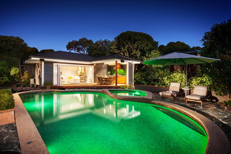 The pool house by acorn garden houses for Acorn house designs