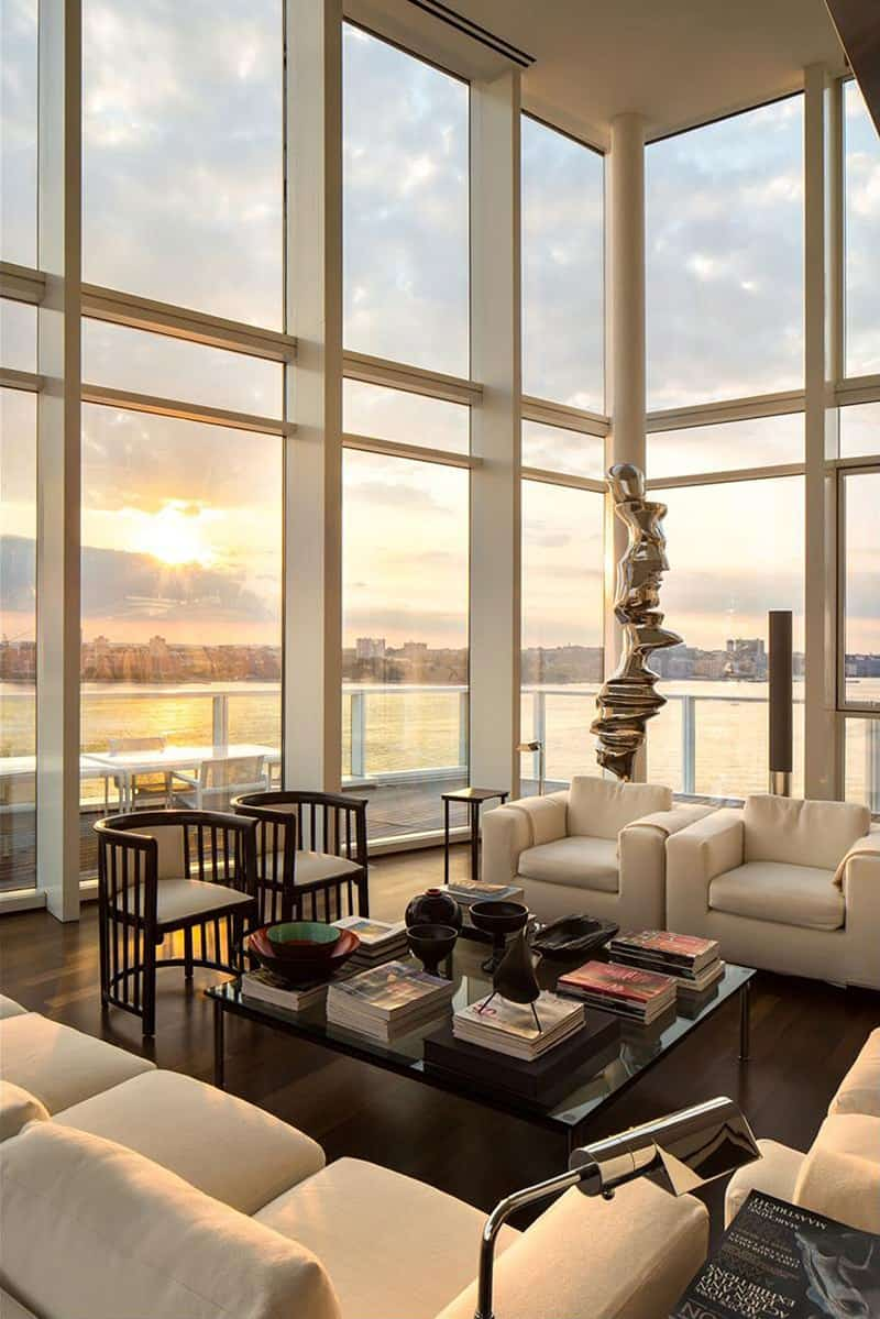 Luxurious Apartment Overlooking The Hudson River By