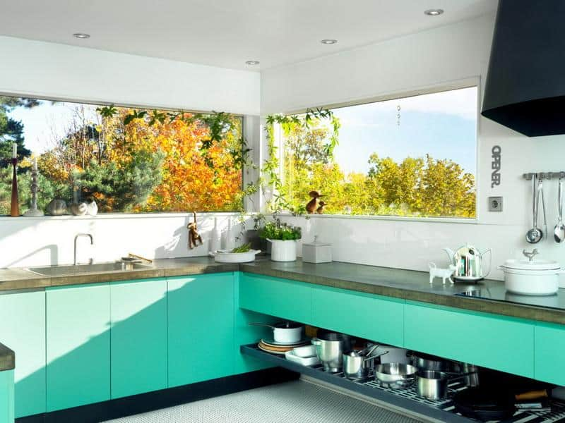 Ideas Of How To Use Turquoise In A Kitchen