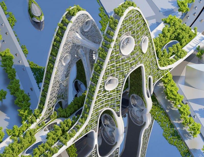 Vincent Callebauts 2050 Vision Paris Smart City 8 Plus Energy Towers on Dining Room Table Floor Plan