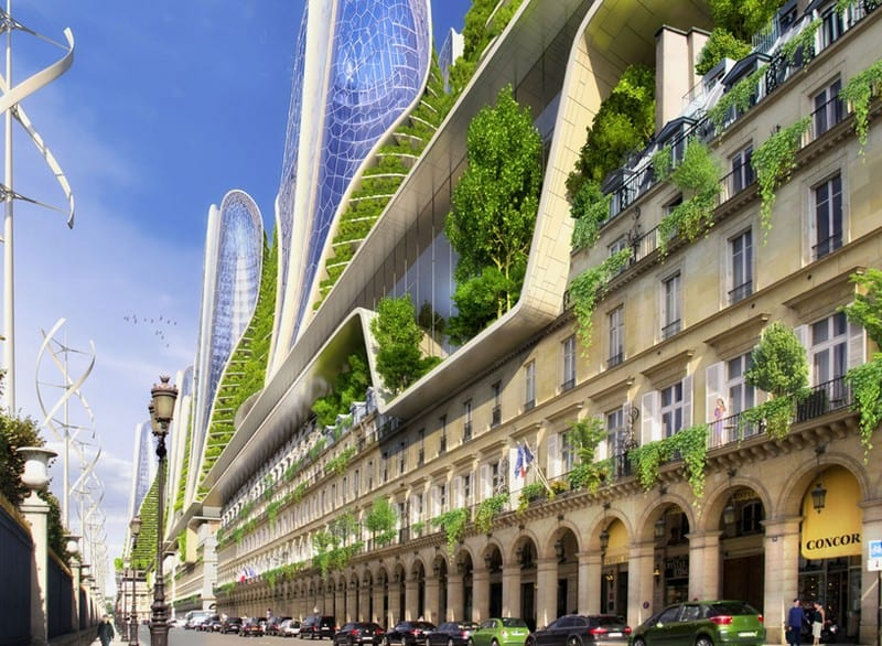 Vincent Callebaut S 2050 Vision Of Paris As A Smart City