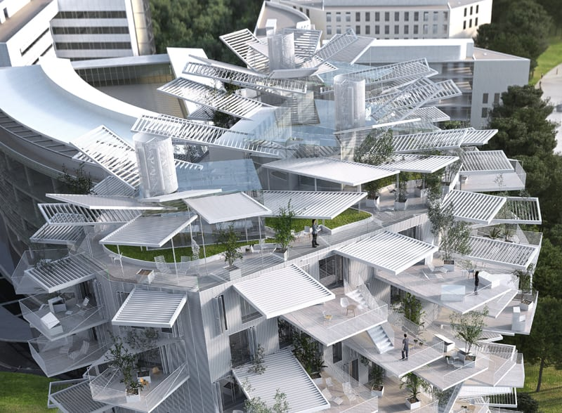 The White Tree Tower By Sou Fujimoto Montpellier France