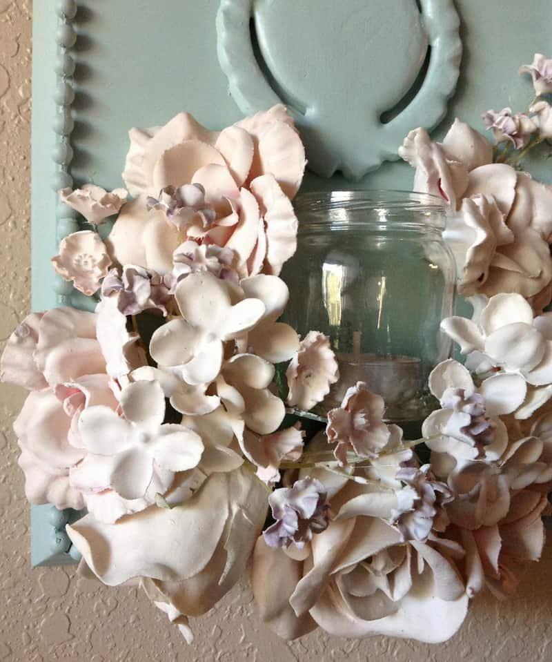 diy plaster dipped flower votives. Black Bedroom Furniture Sets. Home Design Ideas