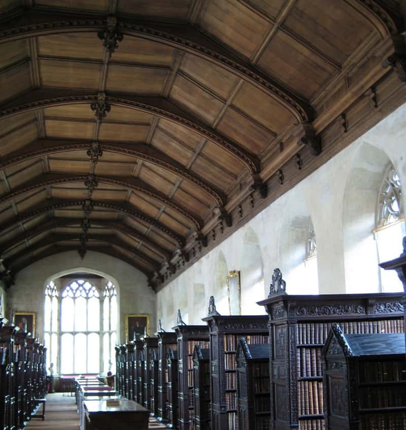 St John's College Library, Cambridge, Uk