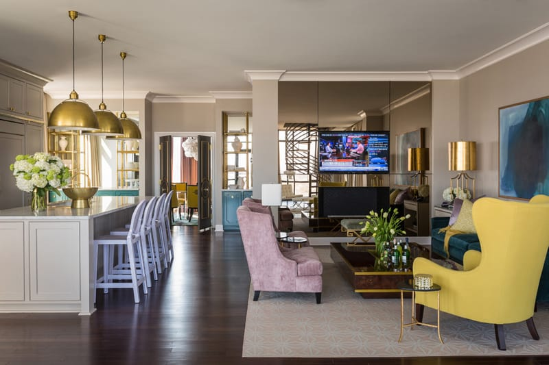 Bright And Bold Riverside Penthouse By Tobi Fairley