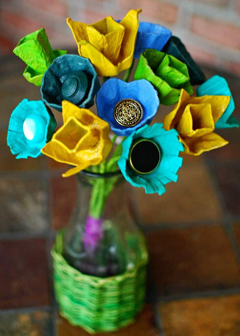 30 Recycling Egg Cartons Craft Ideas   DesignRulz.com