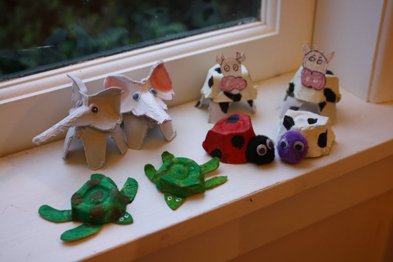 30 Recycling Egg Cartons Craft Ideas