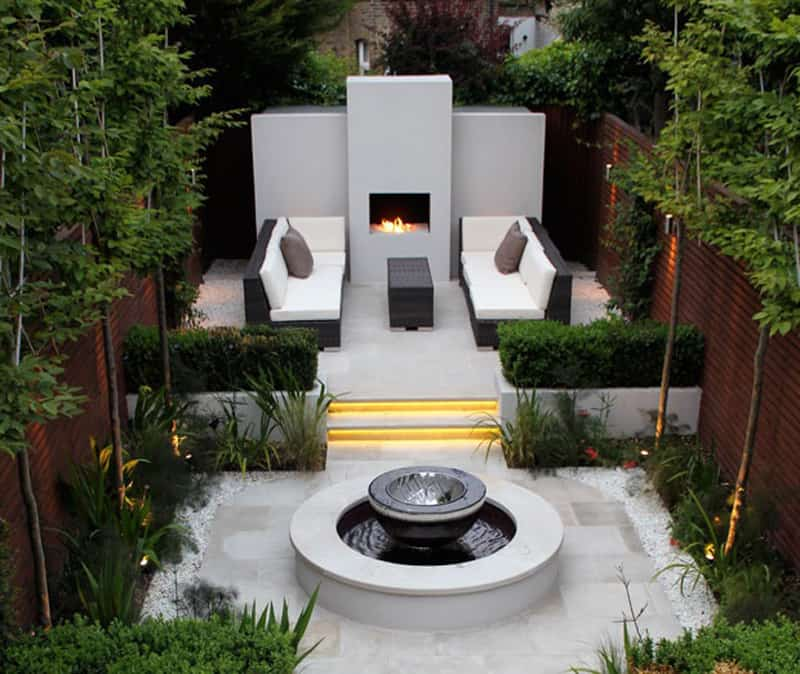 Modern Contemporary Landscape Design: 25 Modern Gardens With Water Features
