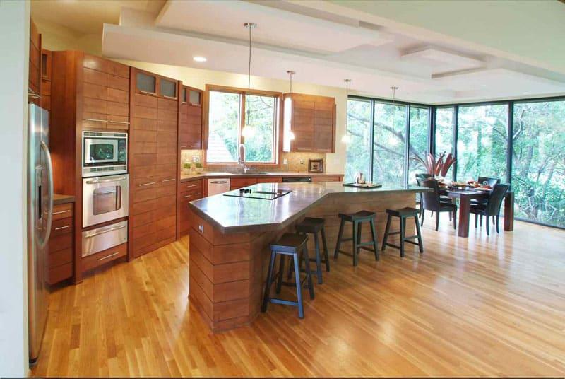 kitchen with large windows designrulz (15)