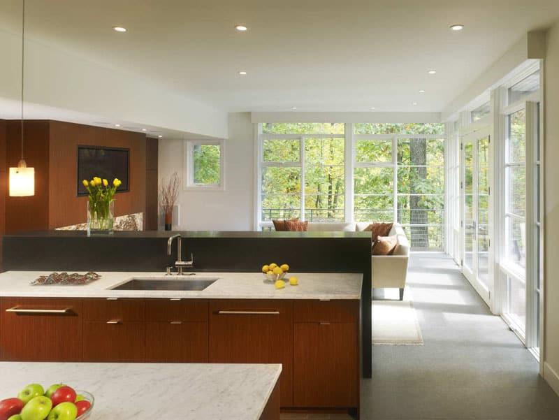kitchen with large windows designrulz (16)
