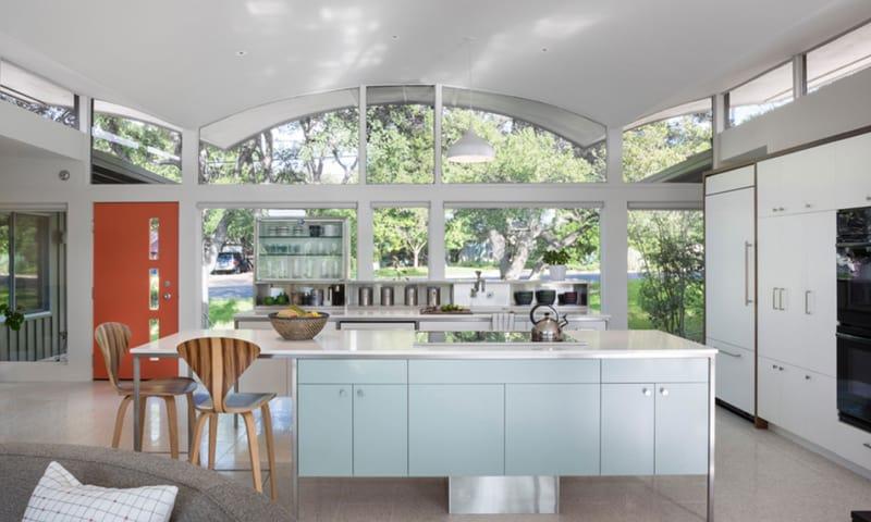 kitchen with large windows designrulz (24)