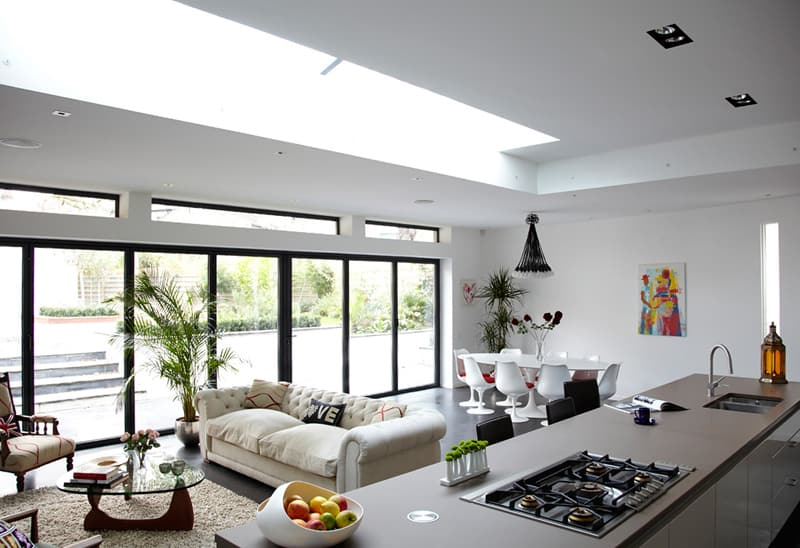kitchen with large windows designrulz (26)