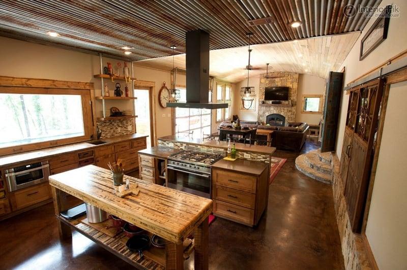 kitchen with large windows designrulz (29)