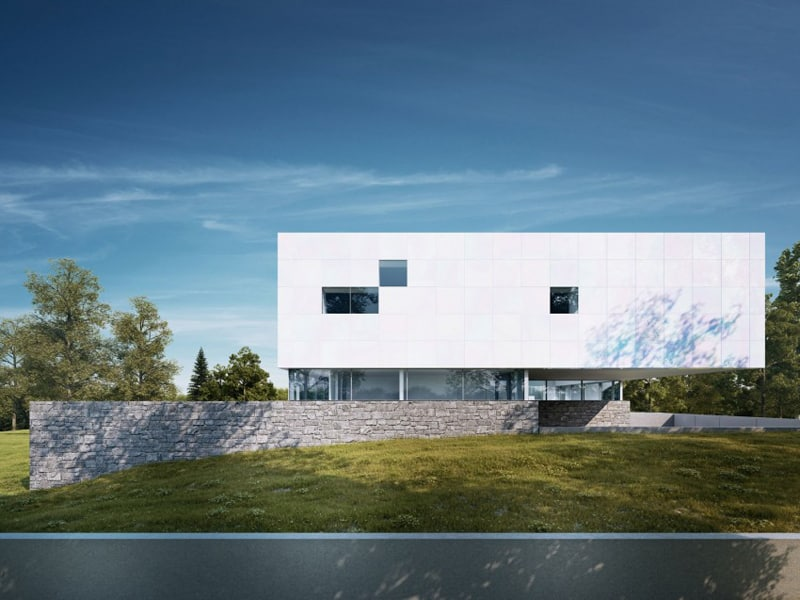 Great Modern House With Floor To Ceiling Windows Germany