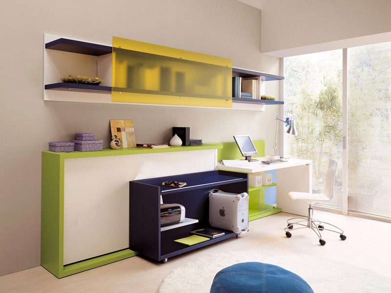 space saving kids furniture. space saving kids rooms_designrulz (25) furniture s & Space Saving Kids Furniture. Built In Loft Bed With Side Storage ...