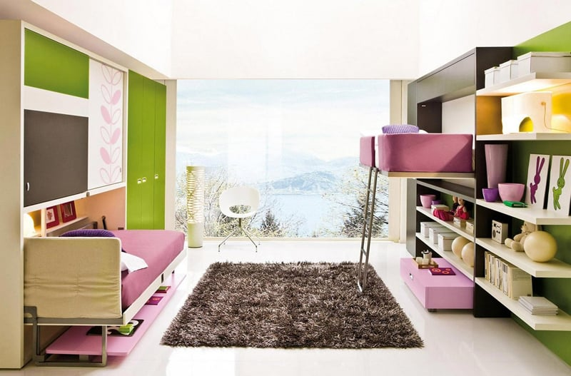marvelous space saving furniture kids rooms | 30 Transformable Kids Rooms with this Amazing Space Saving ...