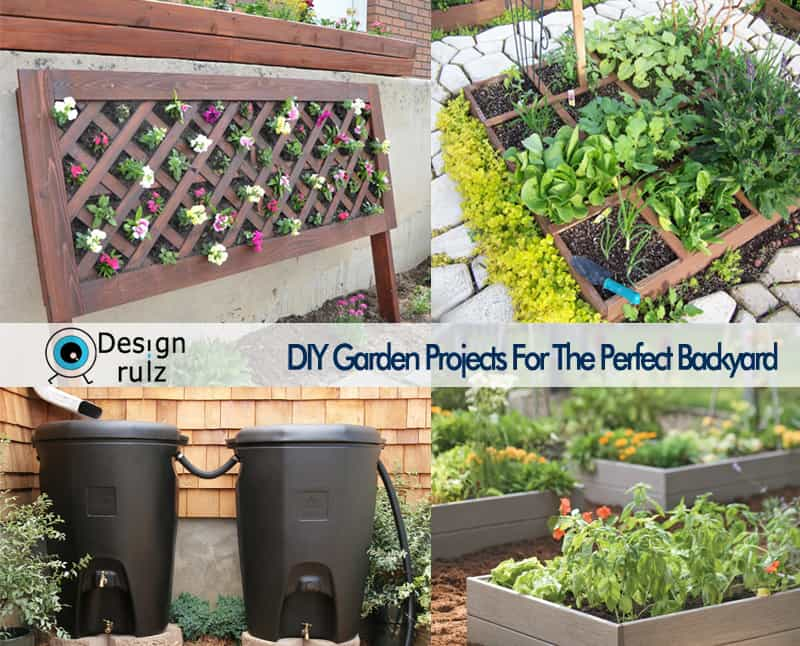 Diy garden projects for the perfect backyard for Diy home design ideas landscape backyard