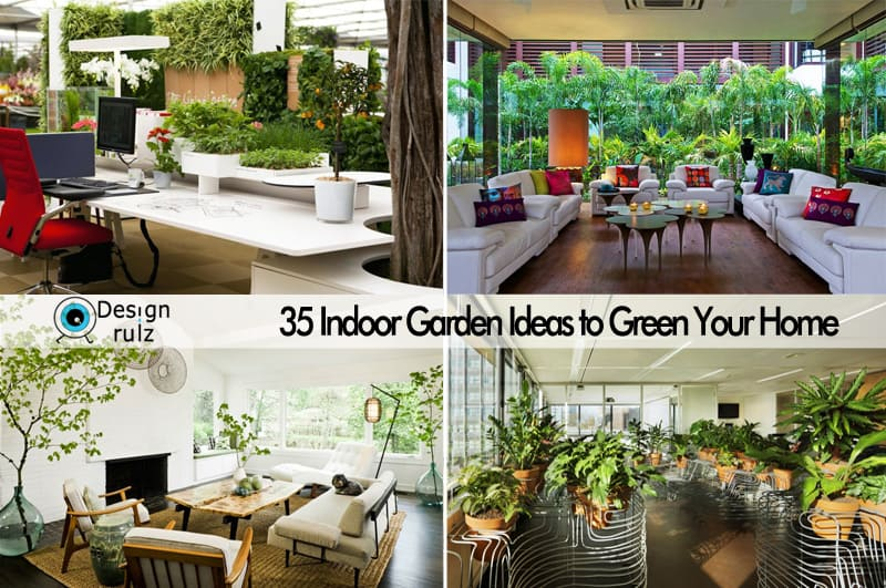 35 indoor garden ideas to green your home for Small indoor patio ideas
