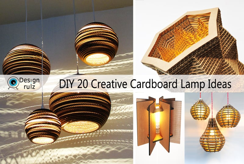 Diy 20 Creative Cardboard Lamp Ideas