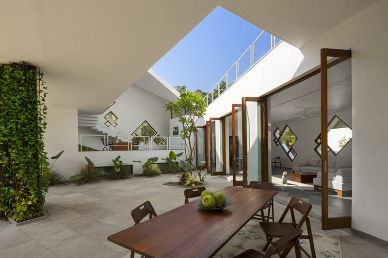 Tomoe villas a different interpretation of traditional Old world house plans courtyard