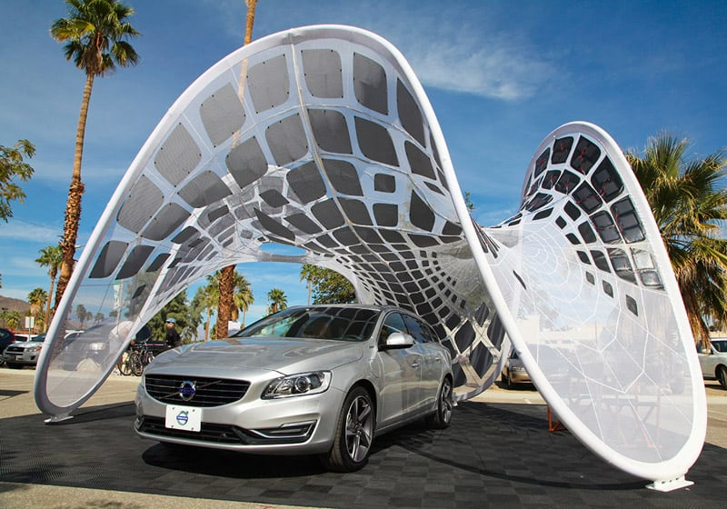 The Pure Tension Volvo Pavilion Portable Charging Station