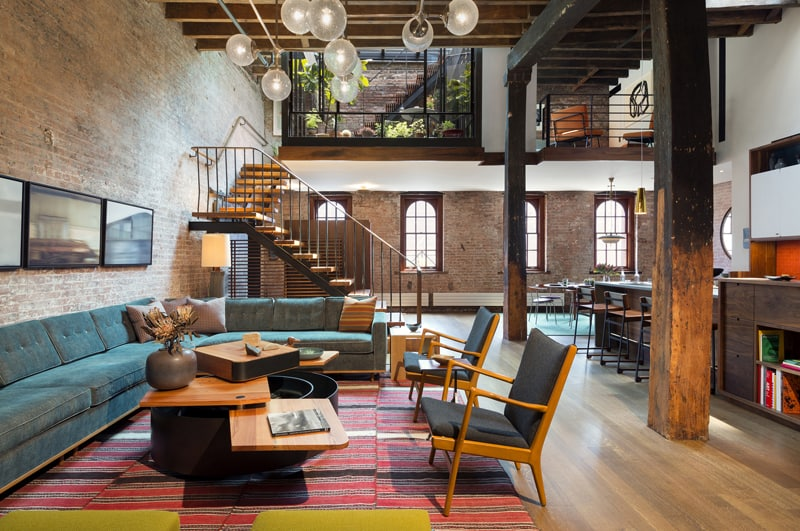 Modern Apartment Tribeca Loft by Andrew Franz Architect New York