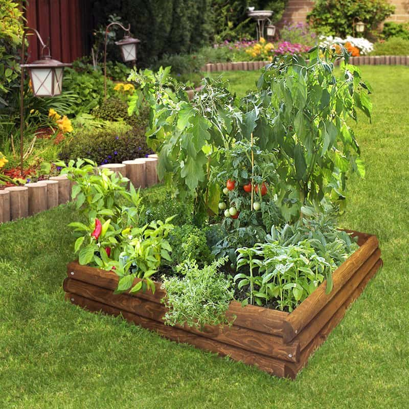 Raised garden beds how to build and install them for Garden designs with raised beds